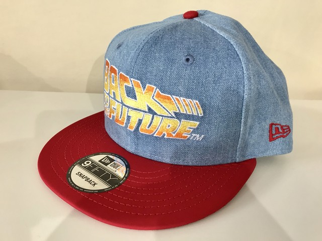 NEW ERA 9FIFTY BACK TO THE FUTURE CAP (DENIM/RED)