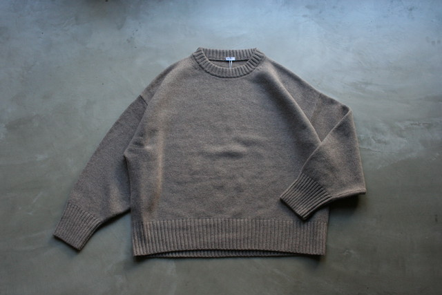 MY /  MERINO WOOL CREW NECK KNIT
