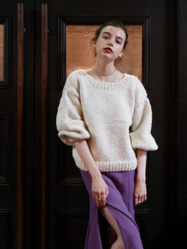 2way handmade knit(ivory)