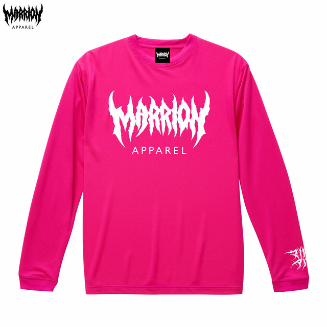 【DRY】MARRION APPAREL DRY LONGSLEEVE (トロピカルピンク)