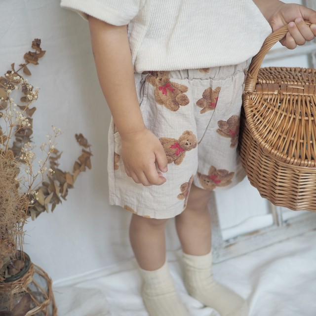 【summer sale】bonito.teddybearショートパンツ[80-110]即納