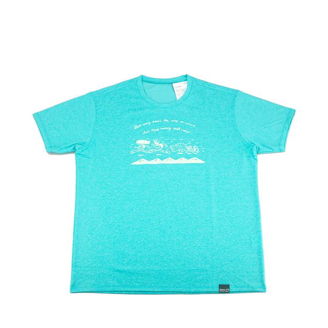 "Men's Tシャツ ""Running"" (グリーン)"