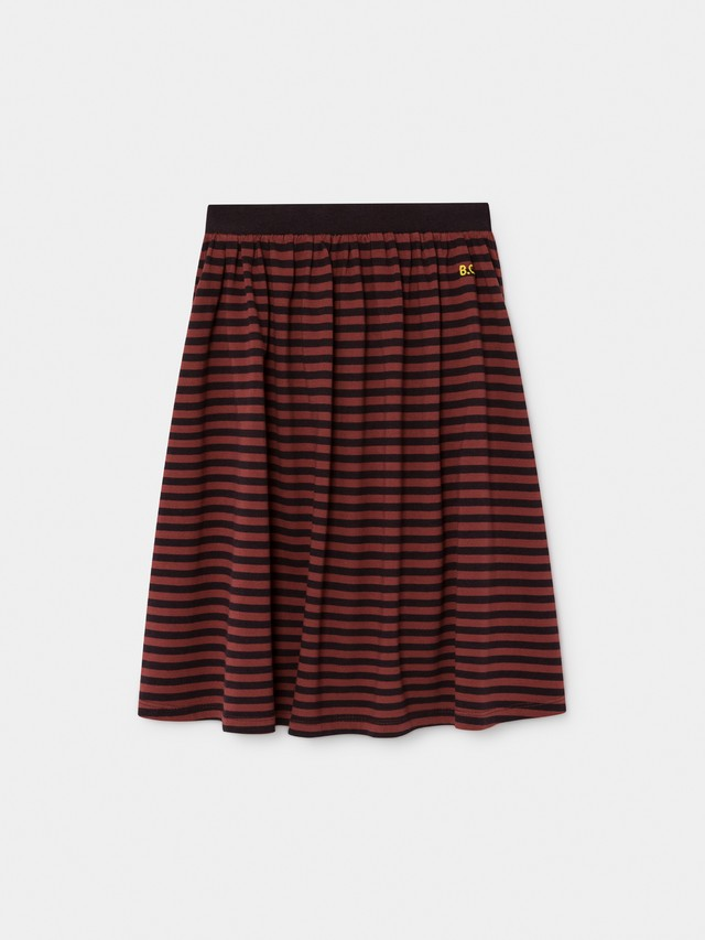 《BOBO CHOSES 2019AW》Striped midi skirt / 2-9Y