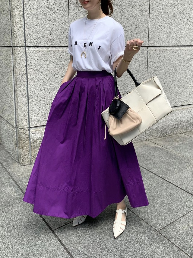 tuck flare skirt / purple 10/1 21:00 ~ 再販 (即納)