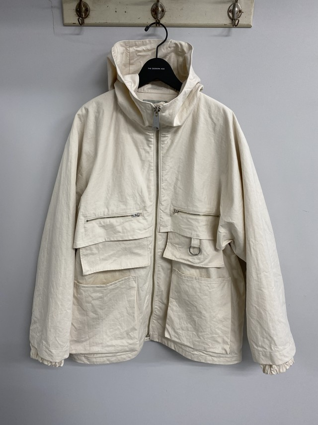 amachi. / Double Layer Work Jacket (Natural)