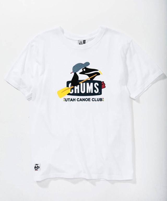 2018年春夏新作  CHUMS (チャムス) Booby Canoe Club T-Shirt (ブービーカヌークラブTシャツ) WHITE (ホワイト)