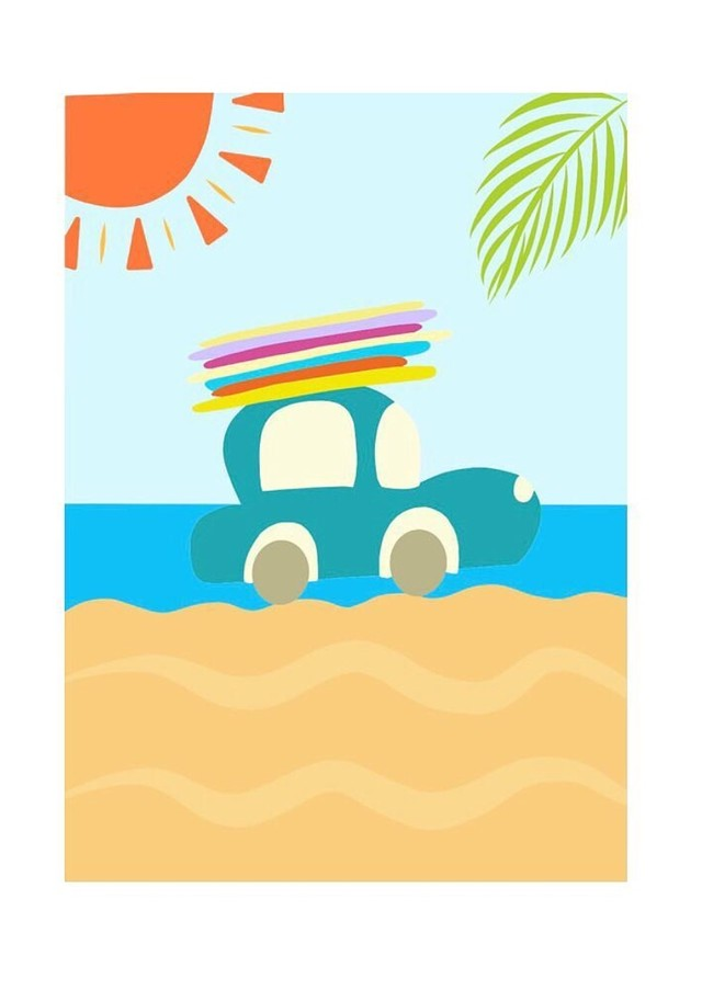 [ily drawing]Sunny Surf Trip