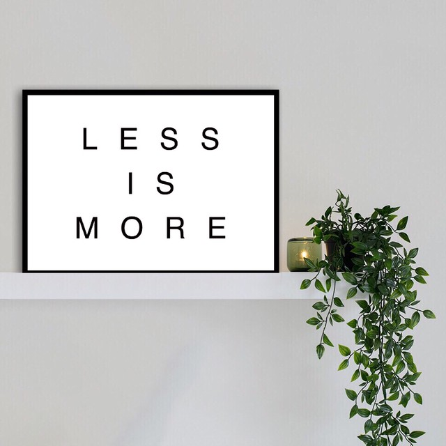 LESS IS MORE / T032 / 北欧ポスター
