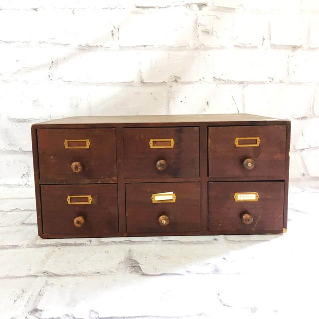 品番0228 ファイルキャビネット 木製 棚 引き出し 収納 家具 インテリア アンティーク