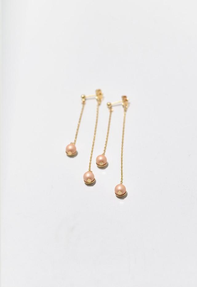Acorn pearl pierce Apricot