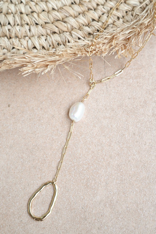 Long Gold Charm Necklace