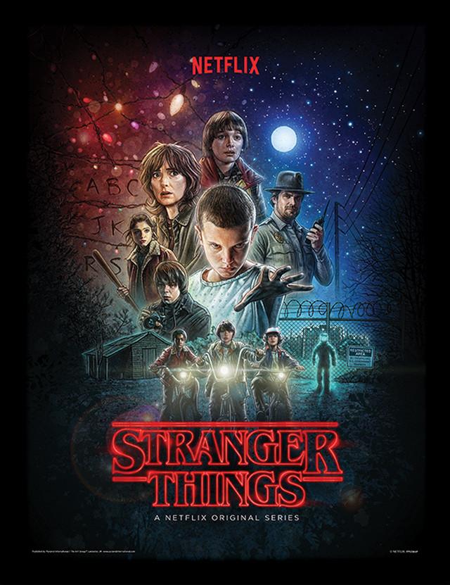 ストレンジャーシングス 高級フレーム付きミニポスター Stranger Things (One Sheet) PFP12366