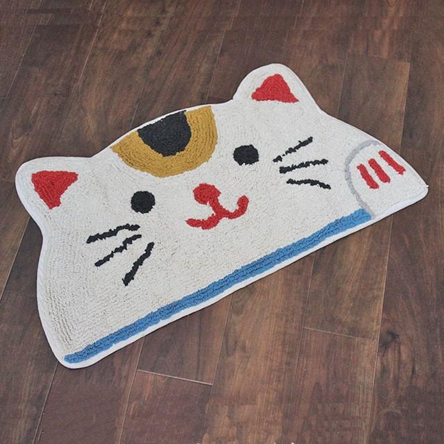 【おそいねアニマル】ミケネコマット【三毛猫 猫雑貨  neko ネコ】
