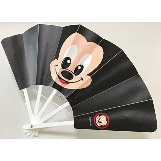 ディズニー 顔柄せんす 扇子 うちわ Disney ミッキー アウトレット 訳あり品