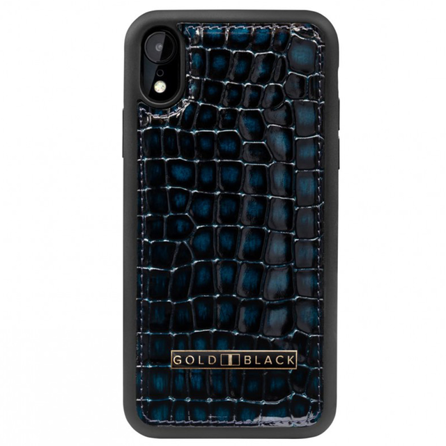 ゴールドブラック(GOLDBLACK) iPHONE XR CASE MILANO BLUE 19194