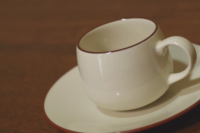 Seto CHINA   シルバーライン カップ&ソーサー コーヒーカップ ティーカップ 昭和レトロ 古道具