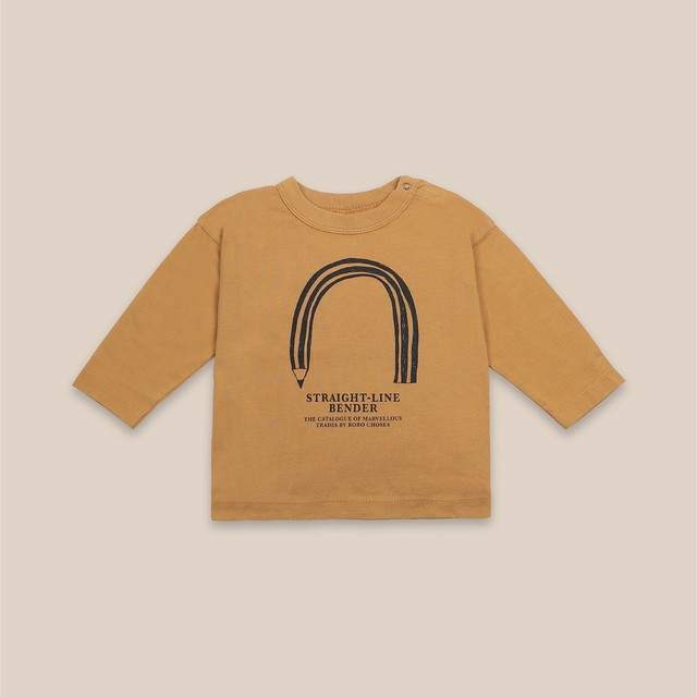 《BOBO CHOSES 2020AW》Straight Line Bender long sleeve T-shirt / 6-36M