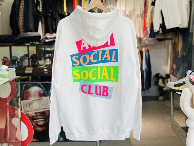 ANTI SOCIAL SOCIAL CLUB JAPAN LIMITED Angel Hair White Hoodie WHITE LARGE 65KB2837