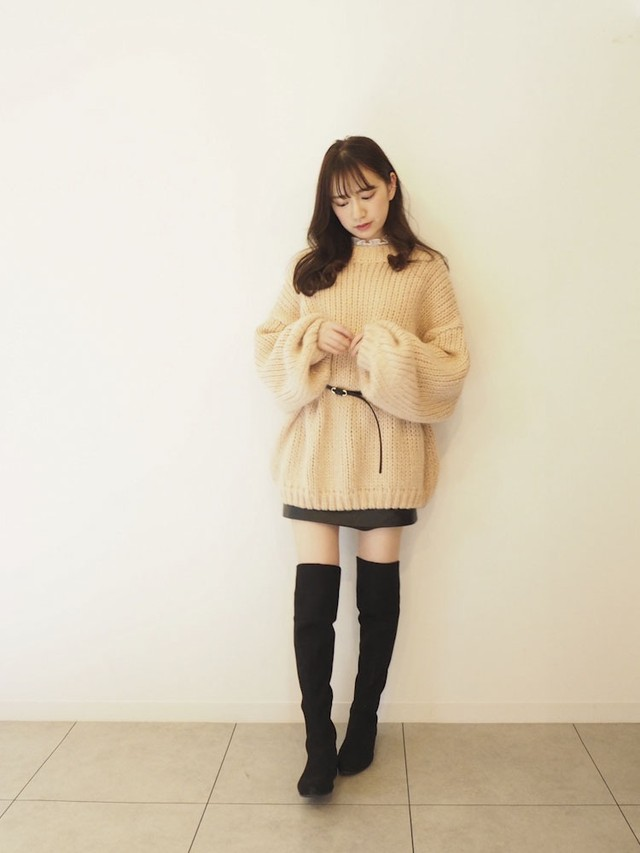 Loose knit tunic  [B-24]