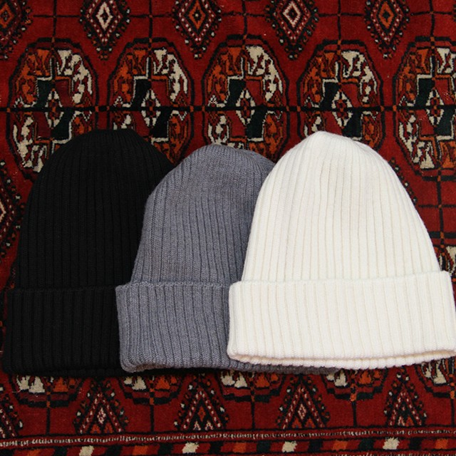 HICOSAKA  【 mens 】cashwool watch cap