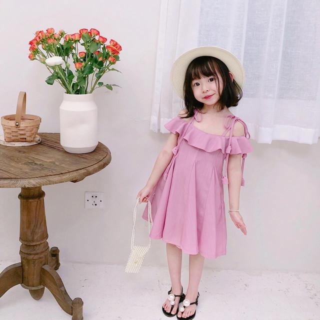 可愛い 女の子ワンピース 子どもドレス 子供服装 ステージ 舞台衣装 誕生日プレゼント ワンピース パープルピンク 90cm 100cm 110cm 120cm 130cm