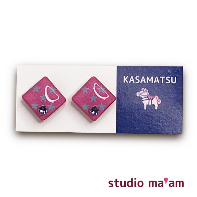 ■KASAMATSU-12 ピアス。しかく。〜イヤリング変更可〜