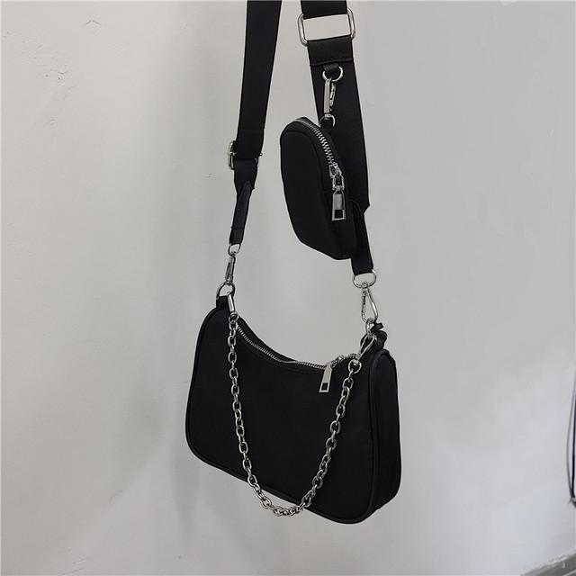 【バッグ】シンプル斜め掛けファスナーバッグ31308714