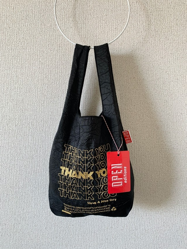 【OPEN EDITIONS / 送料無料】THANK YOU MINI エコバッグ/ THANK YOU Black×Gold