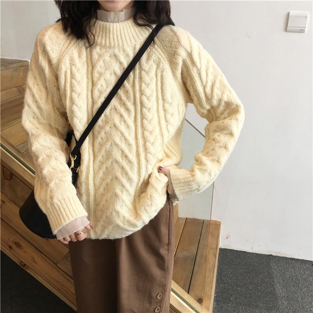 ケーブル編みセーター インナー最適 ニット 5色展開 RPTOP111903