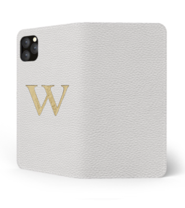 iPhone Premium Shrink Leather Case (Milk White) : Book cover Type