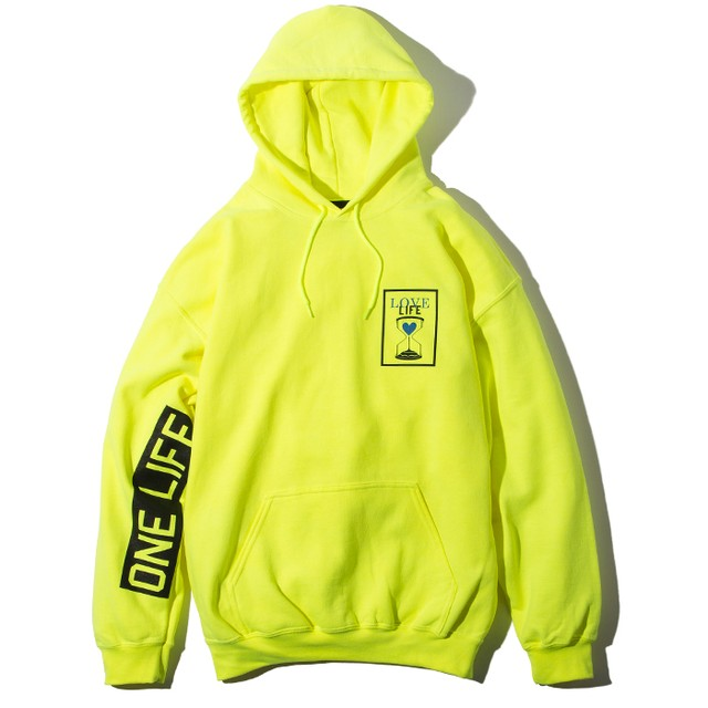 Deviluse(デビルユース) | Love Life Pullover Hooded(Neon Green)