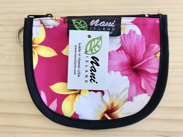 "NANI ISLAND ""MADE IN HAWAII"" POUCH (ROSE/YELLOW)"