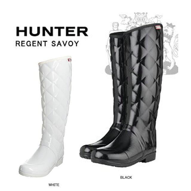 HUNTER ハンター レインブーツ レディース靴 コーティング ラバー キルティング レインブーツ REGENT SAVOY 上品でお洒落な キルティング ラバー セレブ愛用 ハンター ブーツ 豊富な