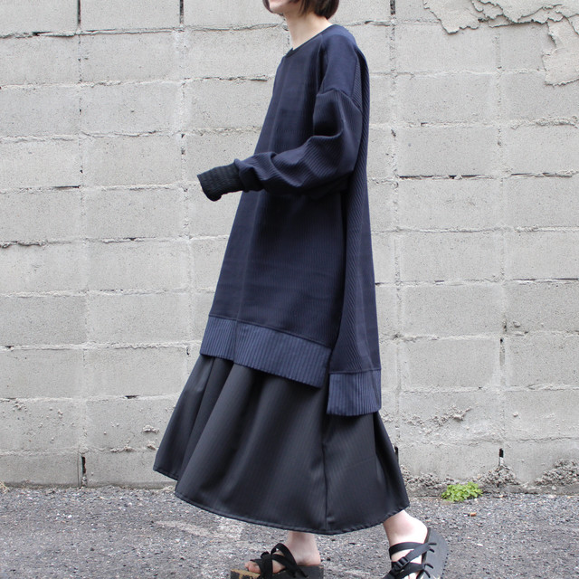 Long-slit-Sleeve-dress (black)