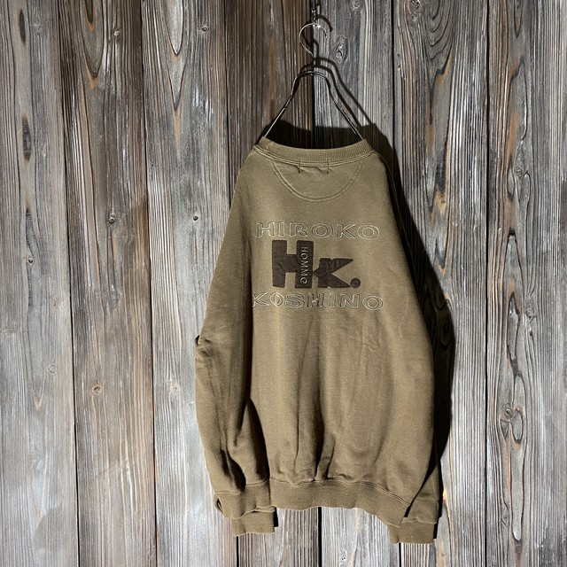 [HIROKO KOSHINO]back design brown  sweat