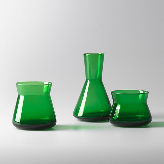 Design House Stockholm TrioVasesGreen φ8 x H6 / 8 / 12cm 花瓶 フラワーベース 北欧 スウェーデン デザイナーズ ブランド 北欧 インテリア