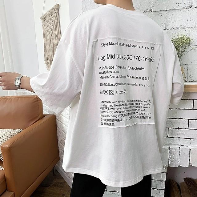 ラベルデザインオーバーTシャツ【WB00325】