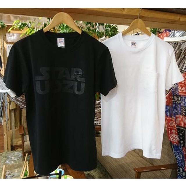 "STAR UOZU ""同色プリント"" ポケットTシャツ"