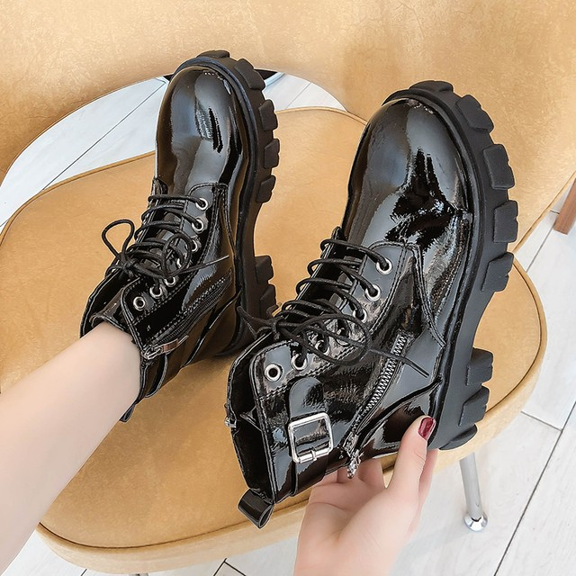 【シューズ】カジュアル丸トゥ人気合わせやすいPU無地ショート丈ブーツ47441602