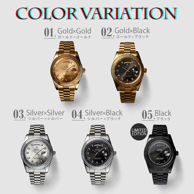 【世界33本限定】OMEX ONE-NIGHT 沢木和也のナンパ帝国エディション[5カラー]メンズ クオーツ 腕時計 日本製 ムーブメント ゴールド シルバー
