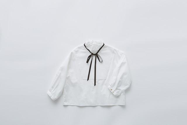 【21SS】eLfinFolk(エルフィンフォルク)ruffled collar bulouse (120/130)white ブラウス