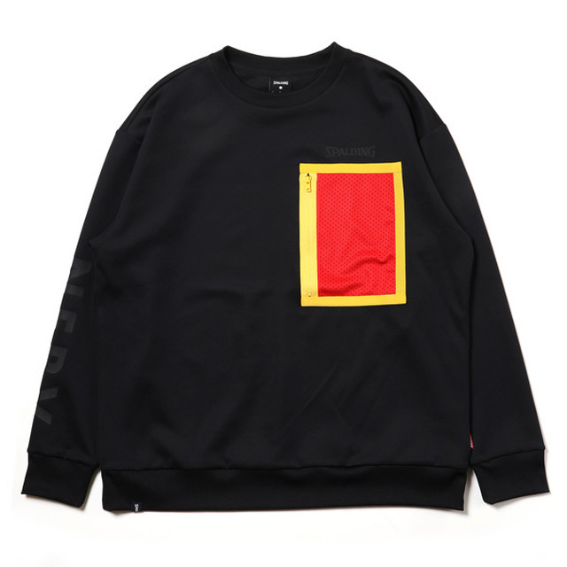 RADIO EVA 719 NERV Sweat Shirts by SPALDING Black x Red/ EVANGELION エヴァンゲリオン