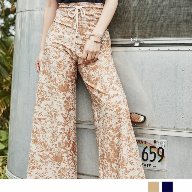 Flower Highwaist Flare Pants