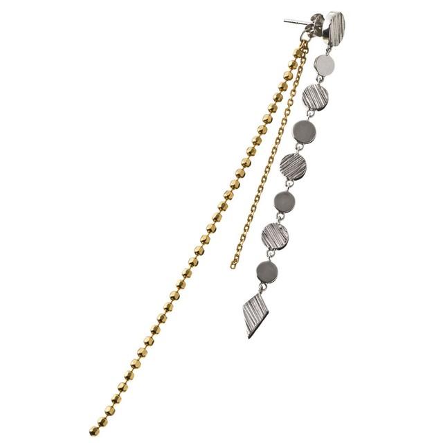 Circle chain earring サークルチェインピアス(片耳用)ELE0017S