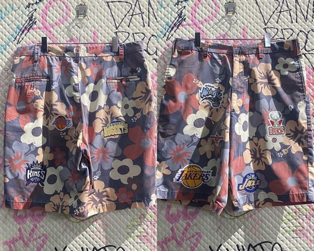 NBA design floral half pants