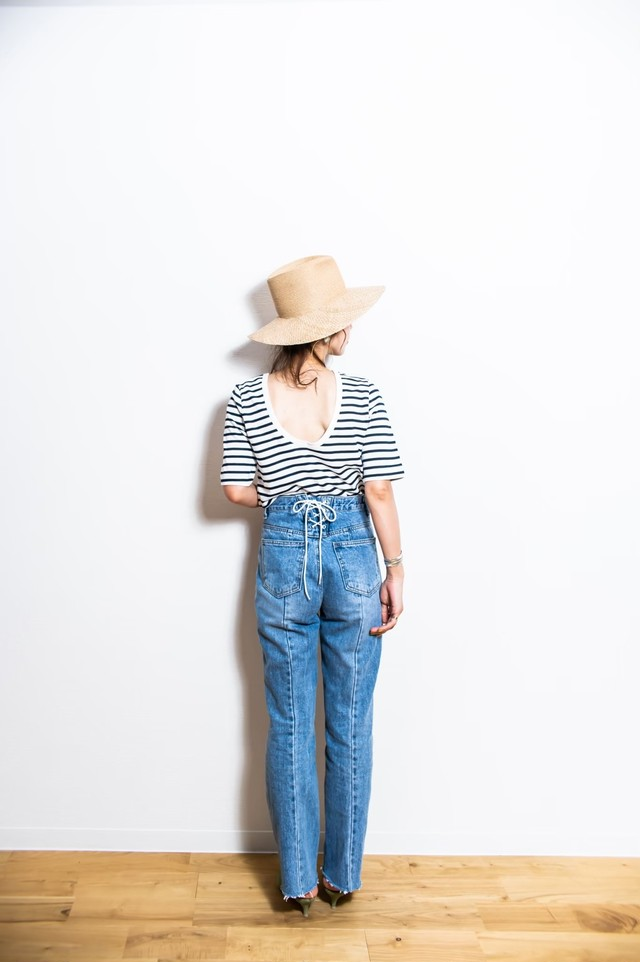 back silhouette denim