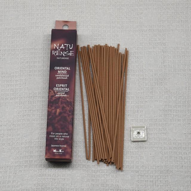 《自然素材のお香》オリエンタルマインド(サンダルフッド×パチュリ) | 日本香堂 NATURENSE