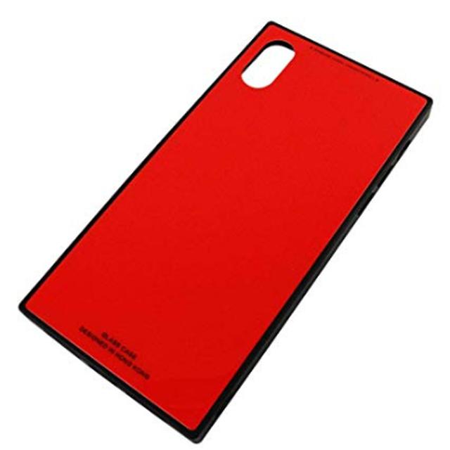 アビアント スクエア iPhonケース  X / XS  耐衝撃 強化ガラス ソフトフレーム ハードケース シンプル