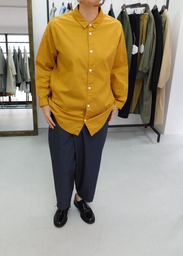 FIRMUM 【フィルマム】シーチングコットン レギュラーカラーシャツ
