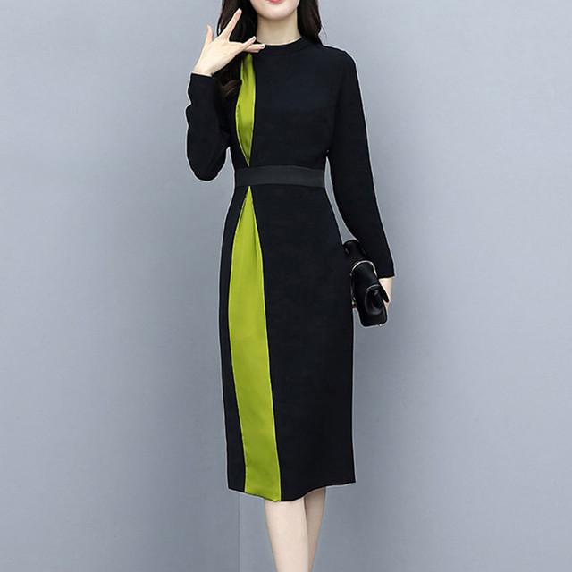 【dress】フォーマルワンピースエレガント切り替えスリムファッション